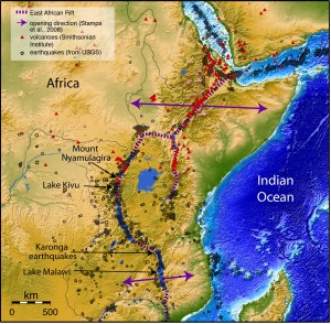 Map of the East Africa Rift.