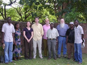 Charles Kankuzi and Loveness (MGSD), Donna Shillington and James Gaherty (LDEO), Walter Mooney (USGS), Winstone Kapanje (MGSD), Frederick Simon (USGS), Nathan and Patrick Chindandali (MGSD).