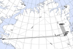 Map of the Proposed Flight Plan from NASA