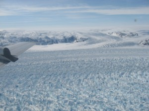 Helheim Glacier on the east coast of Greenland (image by Indrani Das)