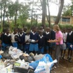 CORDAID conducts a workshop for students in waste management in Kisumu's Manyatta Informal Settlement.