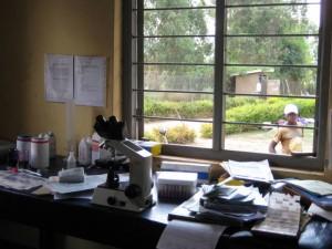The laboratory at Kabuyanda Health Center
