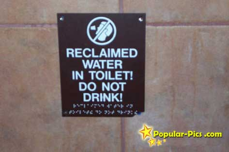 Tampa Drink Reclaimed Water