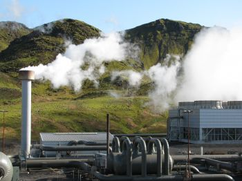 Part of the Hellisheidi Power Plant in Iceland