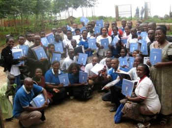 Community Health Workers with their training manuals