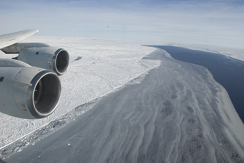 Our tour ends at the edge of Larsen C Ice, where sea ice meets open water.