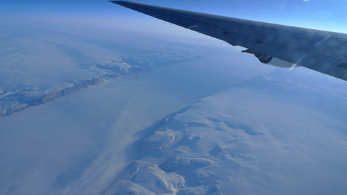 Petermann glacier covers ~1,300 kms and unlike Humbolts steep face boasts a long floating tongue of ice.