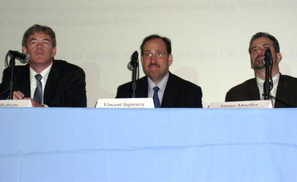 Water and Wastewater Issues Facing NYC Panel: James Roberts, Vincent Sapienza and James Mueller, Deputy Commissioners of NYC Department of Environmental Protectiton