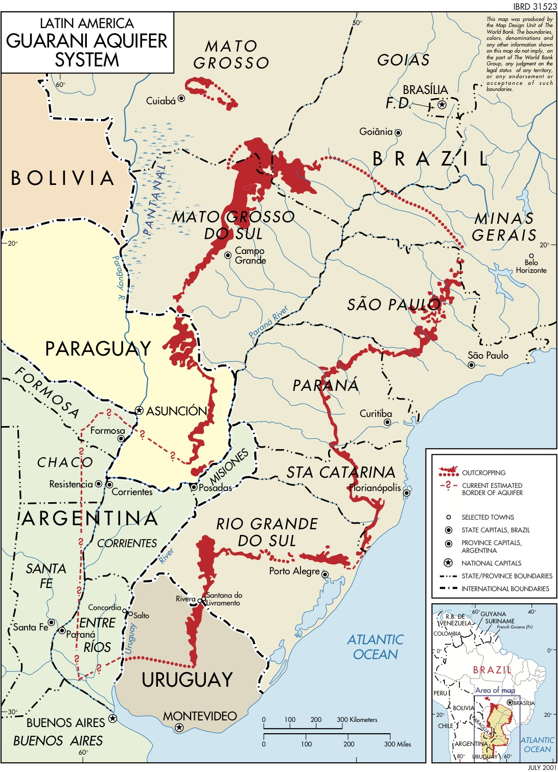 the guarani aquifer a little known water resource in south america gets a voice