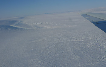 Greenland's Northeast Ice Stream, an area satellites suggest is just beginning to thin.