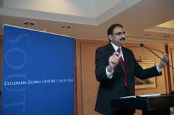 Founding Director Dr. Nirupam Bajpai speaking at the launch of the global center
