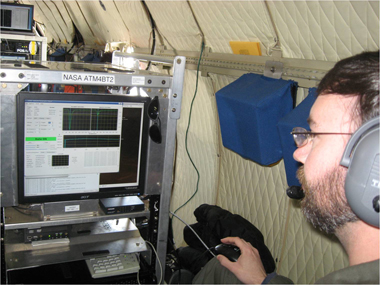 ATM laser instrument used to study the surface of the Jacobshavn glacier