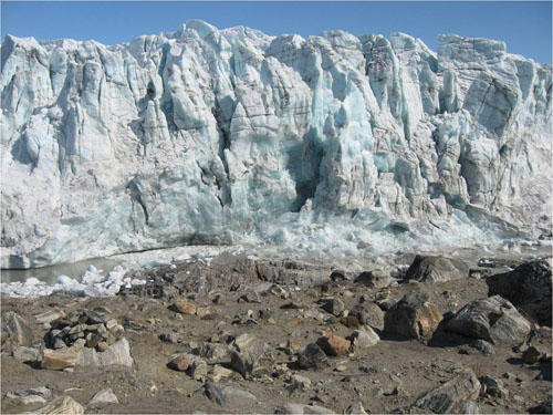 Russell Glacial Front starting to collapse (Image credit Indrani Das)