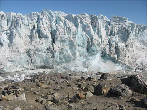 Russell Glacier continues to collapse (Image credit Indrani Das)