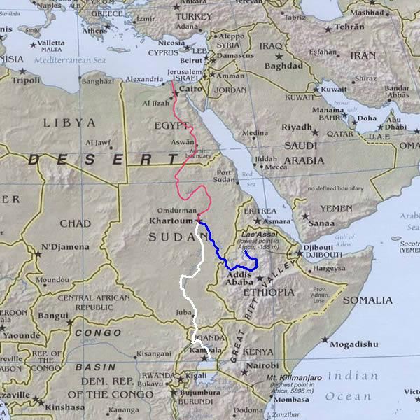 Map Of Africa River Nile.Who Owns The Nile