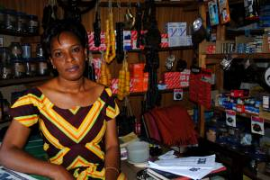 Shop keeper in Kisumu