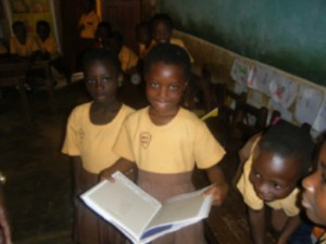 Pre-schoolers in Kumasi, Ghana, who are part of a pilot program using an interactive curriculum, with specially-trained educators and model classrooms.
