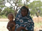 Mother and child in the Ikaram, Nigeria Millennium Village
