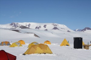 Tent city at the Central Transantarctic Mountain Camp