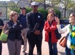 Members of Faith Leaders for Environmental Justice are lead on a tour by Anhthu Hoang (far right), Director of Environmental Health/General Counsel for WEACT.