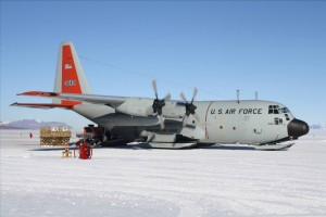 The Twin Otter, ready to fly the team back to McMurdo