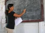 CAPTION: Sonia Machuca, WAVES for Development's environmental education teacher. -Benjamin Preston, 2011