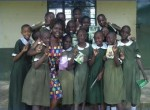 Lois Owiti and one of the Kisumu Girls Clubs