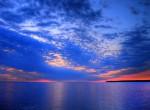 HDRI photograph of sunset on Lake Winnipeg, Manitoba, Canada. 2008. Photo by Non-dropframe via WikiCommons