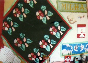 Monte Grave Scrapbook: Examples of needlepoint handicrafts produced in Monte Grave.