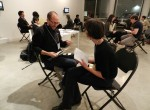 Yours truly on one of 14 dates last Thursday at PositiveFeedback's Climate Change Art/Science Dating Game