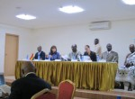 The opening panel of the meeting, featuring officials from the Kumasi Metropolitan Assembly, the Israeli Ambassador to Ghana, Kumasi's mayor and MCI's Director, Susan Blaustein.