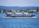 RA 66 Helio on the Untersee, a part of Lake Constance. The solar-powered catamaran is based in Radolfzell.