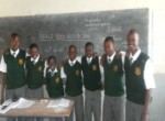 Students from Kisumu Day High School for Boys Celebrate World Read Aloud Day.