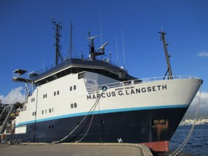 R/V Marcus G. Langseth docked in Honolulu, HI