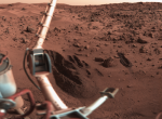 "The Viking 1 Lander ""sampling arm"" dug up soil samples for biology experiments on Mars. PHOTO: Roel van der Hoorn"