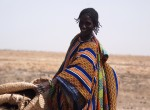 Malian women working on vulnerable barren lands near Timbuktu.