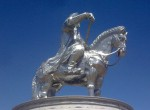 The new Chinggis Khaan statue, Photo: U. Aria