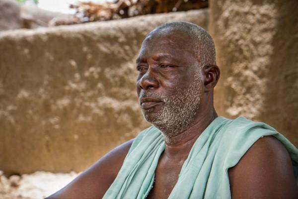 Brehima Konaté, 70, is chief of Diouna Village. Photo: F. Fiondella/IRI