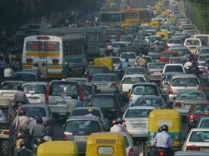 Traffic jam Delhi