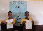 Kumasi - Adiebeba - girls with drawings - 300
