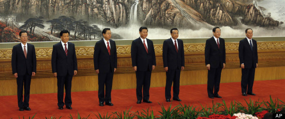 members of the new Politburo Standing Committee