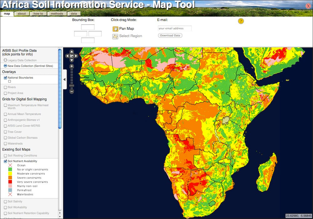 New Africa Map.New Understanding Of Soil Quality Throughout Africa