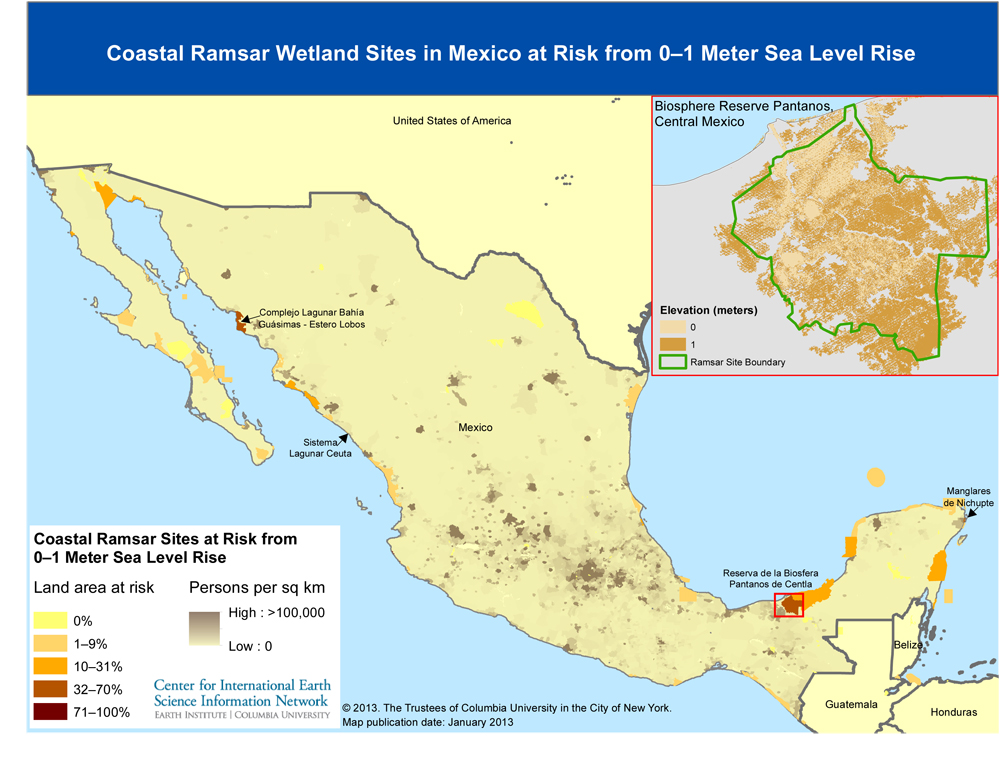 The Impact Of Sea Level Rise On Coastal Wetlands - Altitude above sea level map