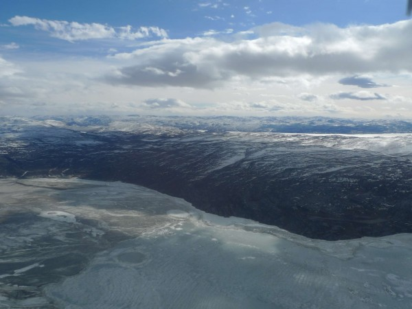 The start of the Sanderstrom Fjord ice tongue (Image M. Turrin)