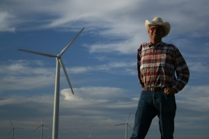 Texas wind farmer Cliff Etheredge. Photo credit: Peter Byck