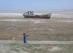 Orphaned ship in former Aral Sea, near Aral, Kazakhstan. Photo Credit: Staecker.
