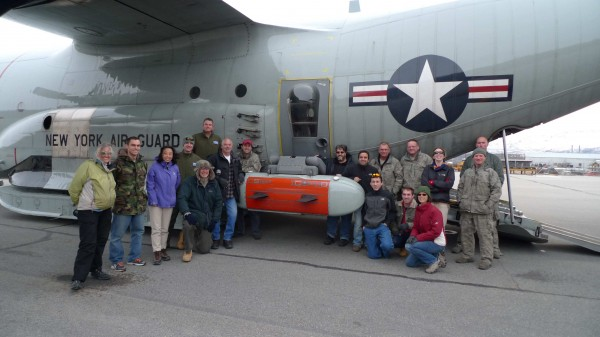 The Ice pod team in Kangerlussuaq, Greenland including science, engineering and NYANG members.
