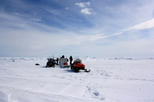 Our team at work in the Arctic.