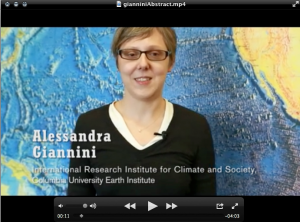 IRI scientist Alessandra Giannini explains her recent work on the natural forces that influence climate in the Sahel in a video abstract.