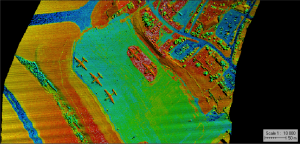 Lidar image over the airstrip.